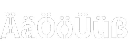 Laserfähige Schneidfertige Buchstaben Ä-ß mit Stege