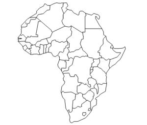 Landkarte Afrika - Map Afrika