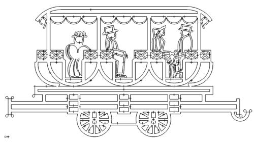 Alter Zug - Anhänger - Old train - Trailer