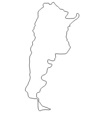 Landkarte Argentinien - Map Argentina