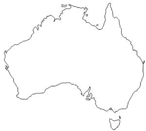 Landkarte Australien - Map Australia