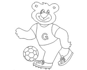 Bär Fußball - bear football