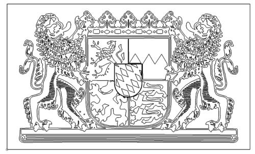 Bundesland Bayern Wappen - State of Bavaria coat of arms