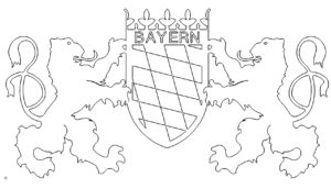 Bundesland Bayern Wappen - State of Bavaria coat of arms