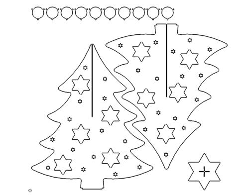 Weihnachtsbaum mit Teelichter - Christmas tree with candles