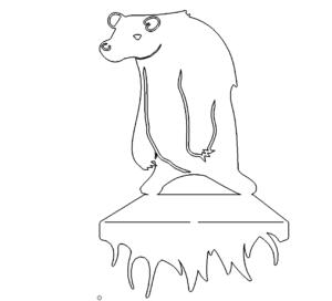 Bär als Ständer - Bear