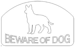 Schild Vorsicht vor dem Hund - Sign Beware Of Dog