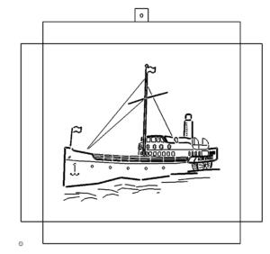 Bild zum Kanten mit Schiff