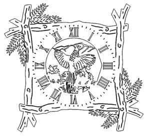Holzrahmen Uhr - Branch Frame Clock