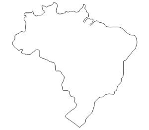 Landkarte Brasilien - Map Brazil