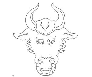 Bulle Kopf - Bull Head