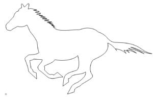 Rennender Gaul - race horse