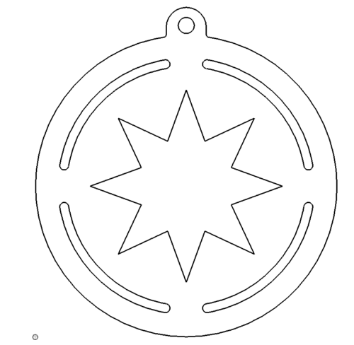 Christbaumanhänger Stern - Christmas Ornaments Star