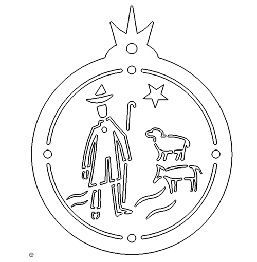 Christbaumschmuck Hirte Schafe - Christmastree Shepherd Sheep