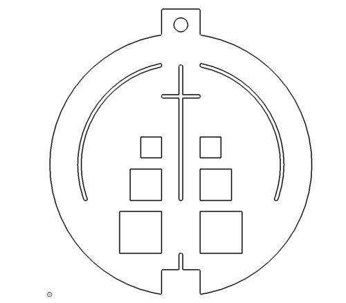 Christbaumschmuck Kreuz - Christmastree Cross
