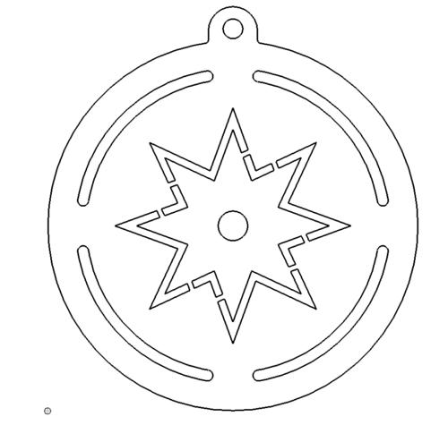 Christbaumschmuck Stern - Christmastree Star
