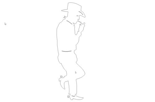 Cowboy raucht