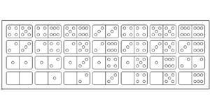 Domino Steine - dominoes