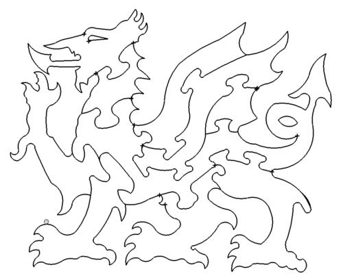 Drachen Puzzle