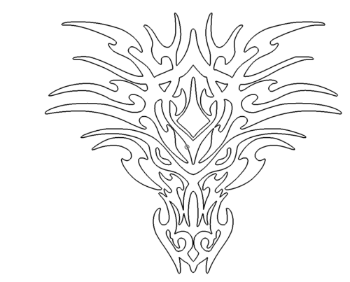 Drachengesicht - dragons face