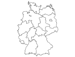Landkarte Deutschland - Map Germany