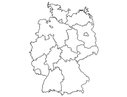 Landkarte Deutschland - Map Germany