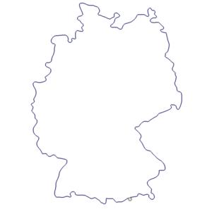 Karte von Deutschland - Map Germany