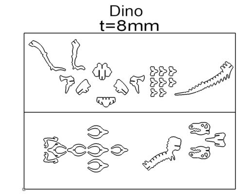 Dino 3D Modell - Dino 3D model