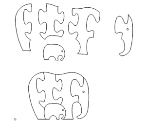 Elefant Puzzle