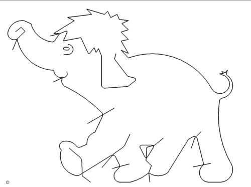 Elefant Comic