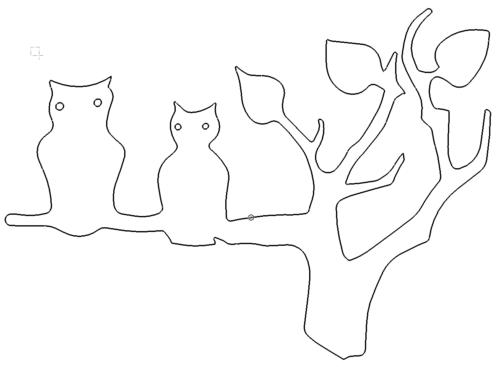 Eulen auf Ast - Owls on branch