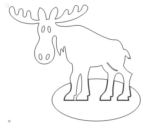 Großer Elch Weihnachten - Big Moose Christmas