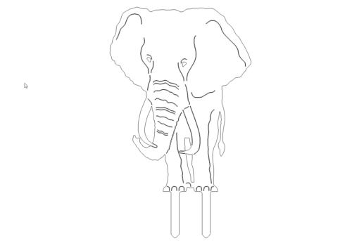 Elefant zum stecken