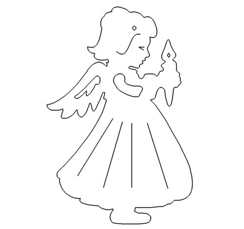 Engel mit Kerze zum aufhängen