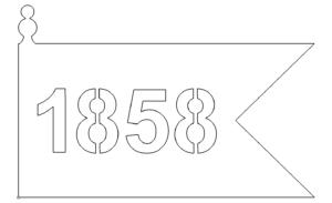 Schild Fahne 1858 - Shield Banner 1958