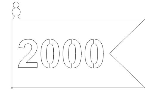 Schild Fahne 2000 - Shield Banner 2000