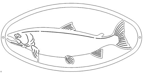 Fisch Schild - Fish Plate