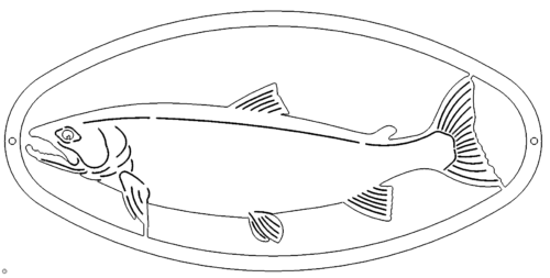 Fisch Wandbild Deko - Fish Mural Decoration