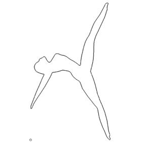 springende Frau - Jumping Woman