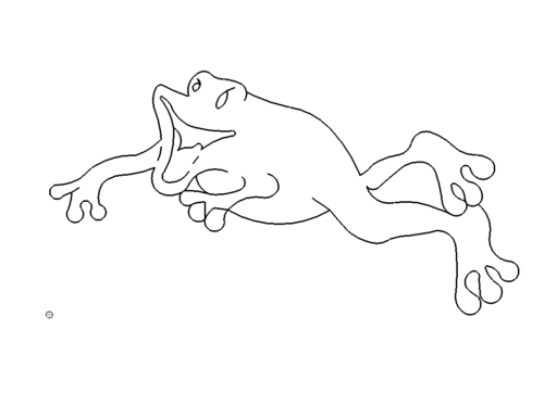 Frosch im Comic Style - Frog in comic style
