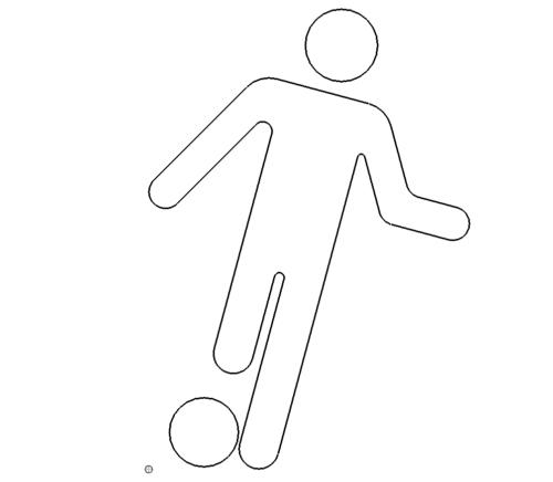 Fussball Info Schild - Football Infoschild