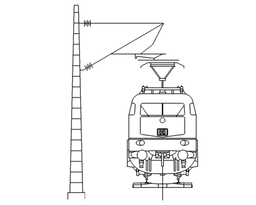 Zug von vorne - Train