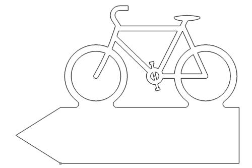 Fahrrad Schild - Bike Sign