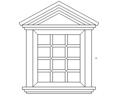Fenster Mit Dach Klein - Window roof small