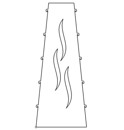 Feuersaeule Mit Flammen Und Ausklinkung
