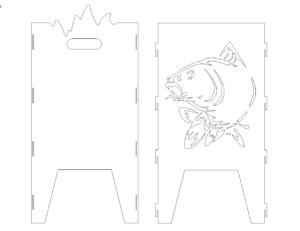 Feuertonne mit Fisch
