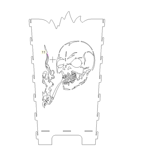 Feuertonne mit Totenkopf