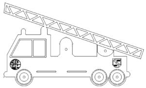 Feuerwehrauto mit Logo - Fire truck with logo