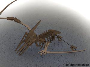 Flugsaurier 3D Modell - Pterosaur 3D model