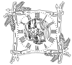 Holzrahmen Uhr Luchs - Frame Clock Luchs